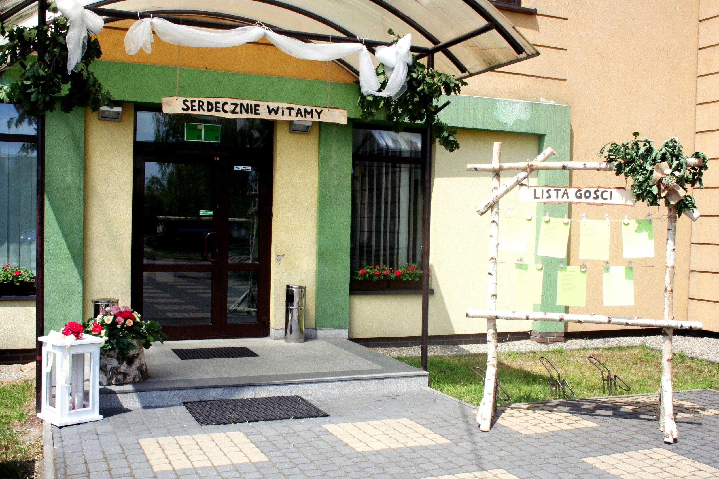 dekoracja wejścia w stylu rustykalnym