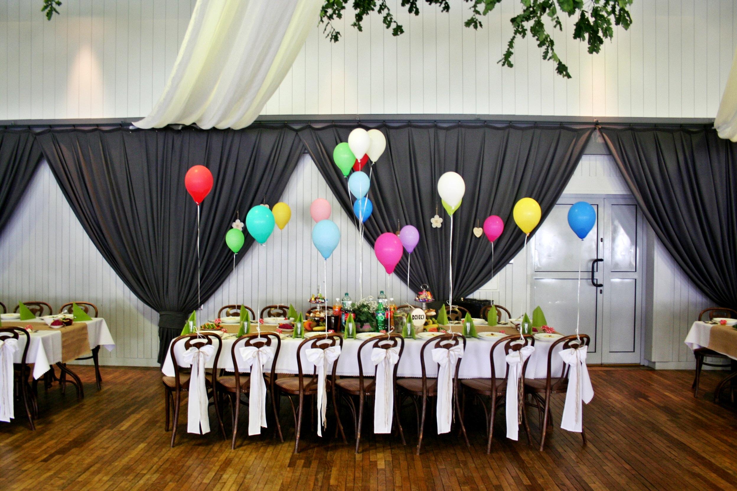 dekoracja stołu dla dzieci