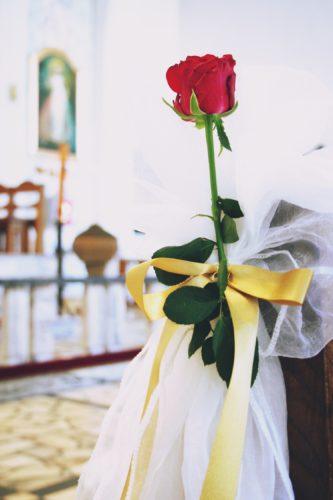 ślub w barwach bordowo złotych