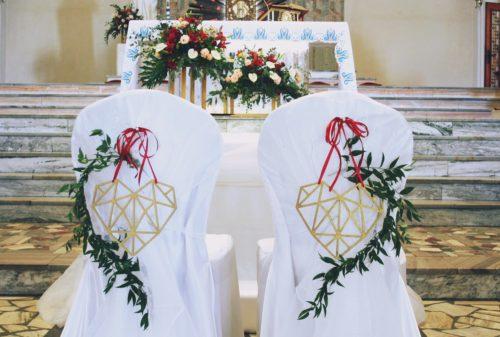 ślub w barwach czerwono złotych