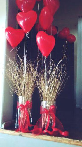 dekoracje walentynkowe czerwone serca
