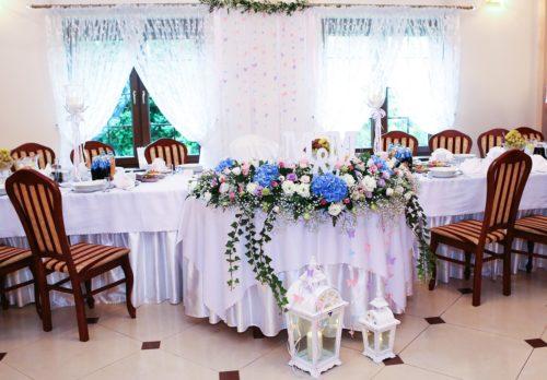 dekoracja stołu Pary Młodej