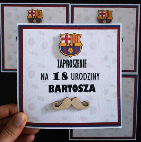 zaproszenie na osiemnastkę FcBarcelona