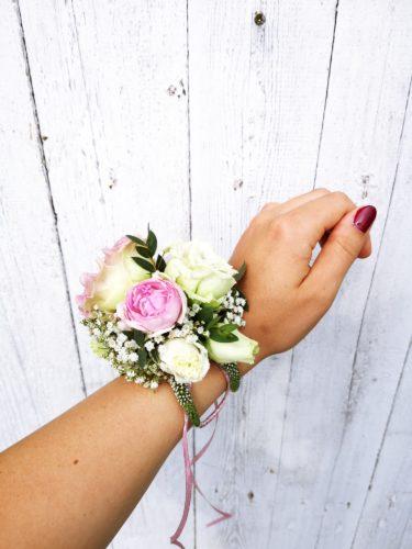 korsarz świadkowej bransoleta z kwiatów