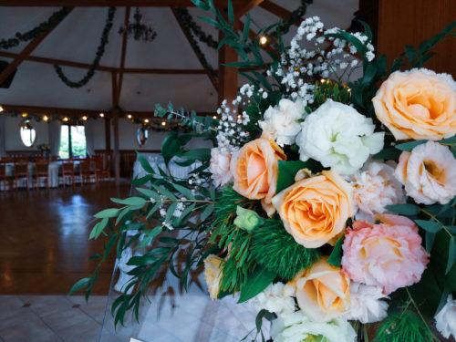 lista gości, dekoracja kwiatowa
