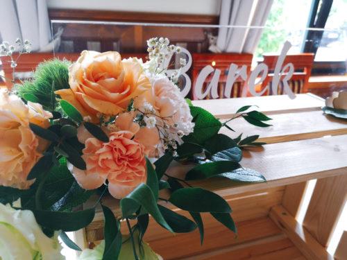 dekoracja sali weselnej, barek