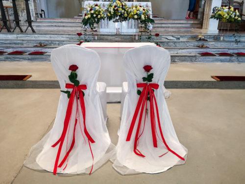 dekoracja ślubna w kolorze czerwonym