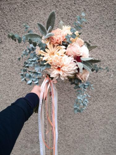 bukiet ślubny dla Panny Młodej